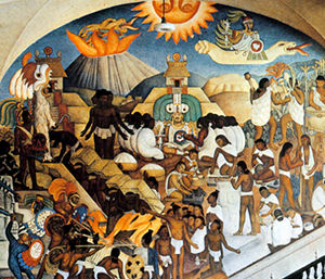L'histoire du Mexique - Fresque de Diego Rivera - Palais National - Mexico