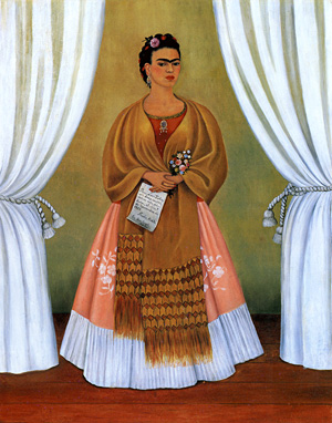 « Between the Curtains » par Frida Kahlo (1937)